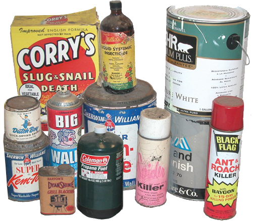 Hazardous Waste Old cans