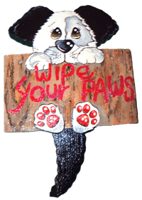 Wipe Your Paws Dog Sign